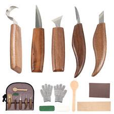 12tlg Schnitzeisen Schnitz Werkzeug Set Beitel Holz Bearbeitung Schnitzmesser