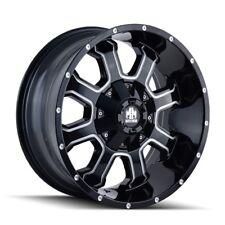 """20"""" Mayhem Fierce 8103 Black Milled Wheel 20x9 5x5 5x5.5 18mm Jeep Dodge 5 Lug"""