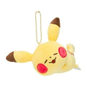 Pokémon Yurutto Mascot chain plush toy Pikachu Lie down kanahei yellow doll