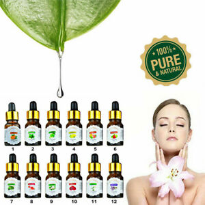 10ml Essential Oil 100% Pure & Natural Aromatherapy With Dropper For Diffuser