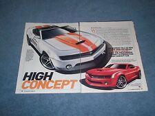 """2006 Chevy Camaro Concept Car Info Article """"High Concept"""" 5th Gen"""