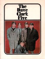 DAVE CLARK FIVE 1965 AMERICAN TOUR CONCERT PROGRAM BOOK BOOKLET / EX 2 NEAR MINT