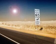 Photo. Funny Sign - SPEED LIMIT ENFORCED BY KILLER DRONES