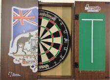 PRO STAR Dart Board Set Sports Bar Australia Dart Board Cabinet + Pro MICRO