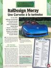 ItalDesign Moray V8 Chevrolet Corvette General Motors USA Car Auto FICHE FRANCE