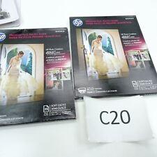 New 2 Pack HP Premium Plus Photo Paper, 80 lbs Soft-Gloss, 8-1/2 x 11 50 Sheets