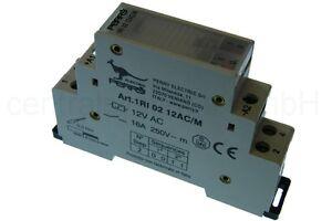 Stromstoßschalter 12V / 16A - Fernschalter Relais für Hutschiene