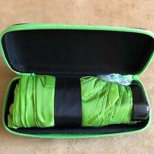 Purse size Umbrella travel case Waterside Shops Naples Florida green folding