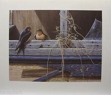 "Glenn OLSON ""Conversation"" LTD art print mint Certificate COA Barn Swallows"