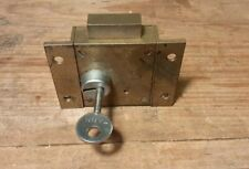 Vintage Brass Lock Working with Tann Key