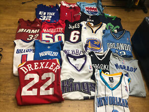 NIKE ADIDAS RBK LOT OF (20) NBA PLAYER'S JERSEY'S ALL ADULT SIZE