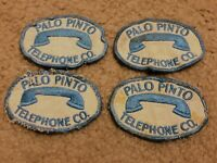 Lot of 4 Palo Pinto Telephone Co. Patches - Unique Vintage Patch