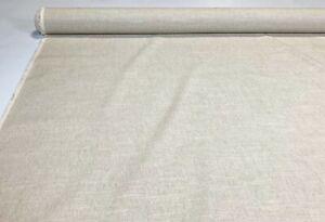 "100% Flax Linen Oatmeal Tan Fabric Soft Natural Fiber 55"" Wide Upholstery SL-102"