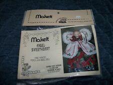 Porcelain Christmas Angel Sweetheart Half Doll Cross Stitch Kit