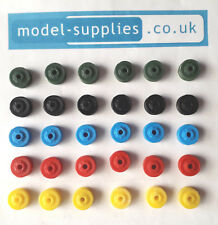 Dinky Reproduction Truck Size Late Plastic Single Patterned Road Hubs 5 Colours
