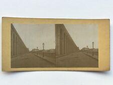 Viaduc Saint-Cloud ? Photographie Stereo Vintage Albumine c1865