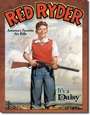 Daisy Red Ryder Kids Air Rifle Gun Shotgun Metal Sign