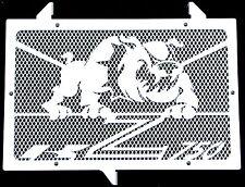 "cache / Grille de radiateur inox poli Kawasaki Z750 07>12 ""Bulldog"" +grill.blanc"