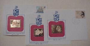 SAMOA  FDC  3 DIFF. 1979,1981,1982  GOLD FOIL   CACHET  UNADDRESSED