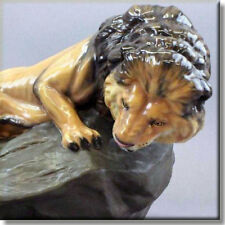 LARGE Royal Doulton Animal Study Figurine LION ON ROCK HN2641 by C. Noke - Rare