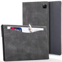 Apple iPad Pro 11 2020 Case Cover with Document Pocket & Sleep Wake - Black