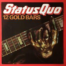 Status Quo 12 Gold Bars LP 1980 Vinyl Excellent
