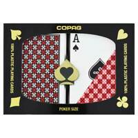 New COPAG Master Poker Size Regular Index Plastic Playing Cards FREE CUT CARD