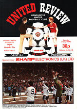 1982/83 Manchester United v Coventry City, Division 1, PERFECT CONDITION