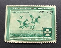 WTDstamps - #RW4 1937 - US Federal Duck Stamp - Mint OG NH - w/ date on front