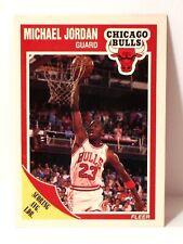 1989-90 MICHAEL JORDAN #21 Fleer Scoring Average Leader NM c332