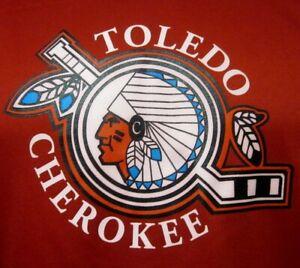 TOLEDO CHEROKEE med hooded sweatshirt Junior A ice hockey team USPHL Ohio