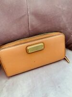 MARC JACOBS wallet leather CARAMEL THE GRIND round zipper long - Good condition