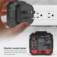 HABOTEST Buchse Tester Digitalanzeige Stecker AC 110V-230V Elektro Messgerät