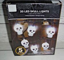 New Halloween Indoor Led 20 Skeleton Skull Party Lights