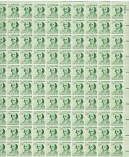 1279 MNH Sheet of 100 Albert Gallatin Stamps - 1 1/4 cent - Plate #28930 UR