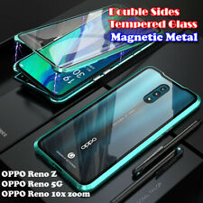Magnetic Metal Bumper Double Tempered Glass For OPPO RenoZ Reno4 Z 5G Case Cover