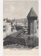 Switzerland, Luzern, Kapellbrucke und Wasserturm Postcard, B204