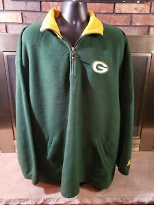Vintage Starter Green Bay Packers NFL Football Fleece Zip weatshirt Mens Sz XXL