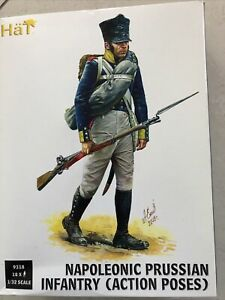 1/32 54mm Napoleonic Prussian Infantry In Action Poses 9318