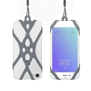 Universal Silicone Lanyard Cell Phone Holder Case Neck Strap For Mobile Phone