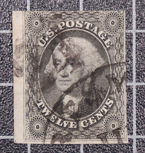 Scott 17 12 Cents Washington Used Nice Stamp SCV $250.00