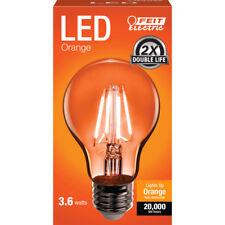 FEIT Electric  Filament  LED Bulb  3.6 watts A-Line  A19  Orange