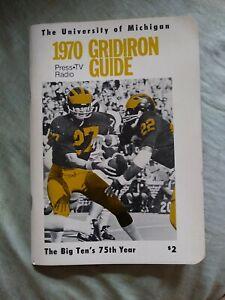 Vintage The MICHIGAN University 1970 Football Information Media / Press Guide
