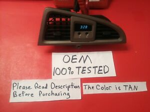 ✅ OEM 04 03 02 01 Nissan Pathfinder CLOCK Center Dash Bezel TAN Vents TESTED