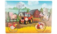Greifpuzzle Bauernhof aus Holz Kinderpuzzle Puzzle Griffpuzzle Steckpuzzle Bauer