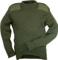 Green Commando Jumper Pullover British Army Issue Military Cadet Wool Mix