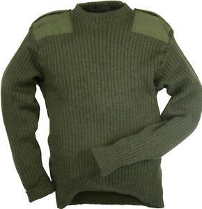 Genuine British Army Green Commando Jumper Pullover Military Cadet Wool Mix
