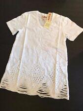 New NWT Pepin WHITE ECHO CLASSIC TEE  L large t-shirt