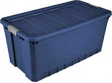 Stadium Blue 50 Gal / 189 L Stacker Tote 3-Pcs Container Durable Storage Bins