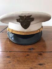 Vintage USMA WEST POINT Academy Cadet Dress WHITE Uniform Cap + Emblem Badge ART